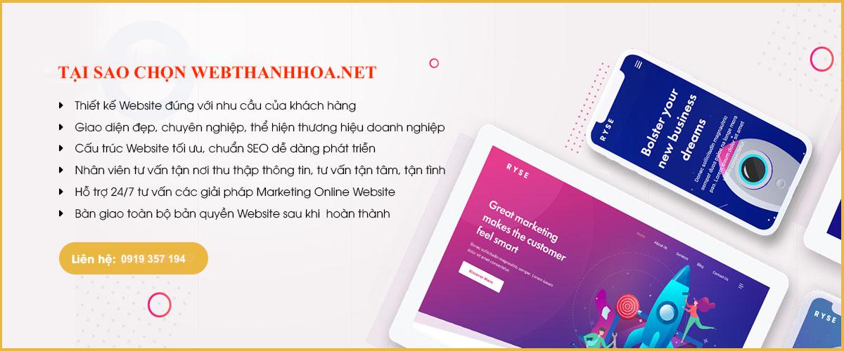 Lựa chọn Web Thanh Hoá để thiết kế website theo yêu cầu