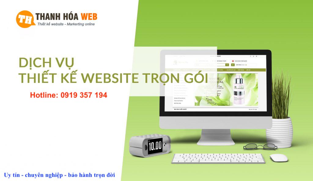 Dịch vụ thiết kế website trọn gói tại Thanh Hoá