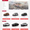 Mẫu giao diện website bán ô tô Nissan