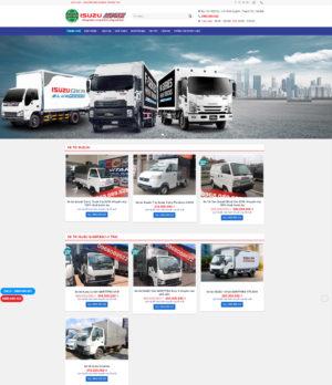 Thiết kế trang website bán ô tô tải Isuzu