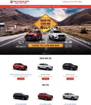 Giao diện mẫu website bán ô tô MG