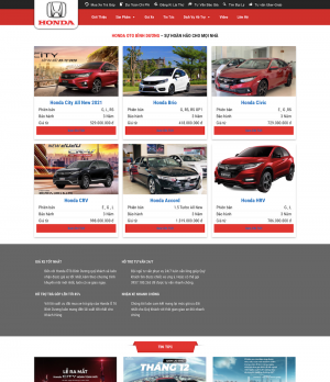 Thiết kế web bán ô tô Honda