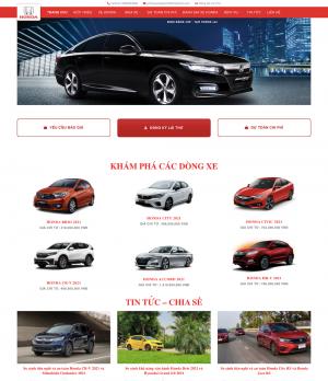 Thiết kế website bán ô tô Honda