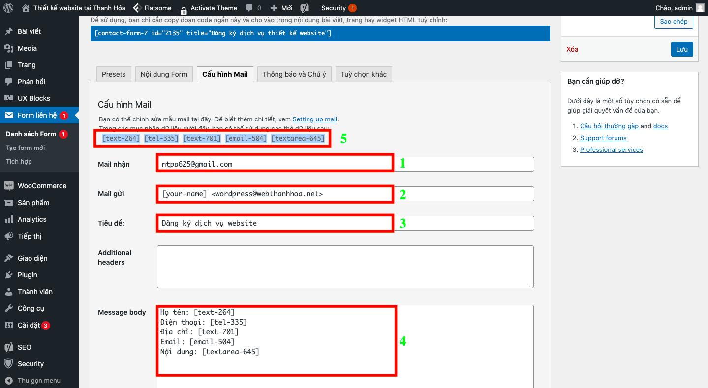 Cấu hình nhận mail SMTP cho wordpress