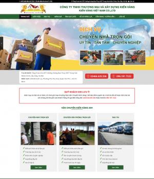 Thiết kế web công ty vận chuyển nhà