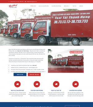 Giao diện mẫu website vận chuyển