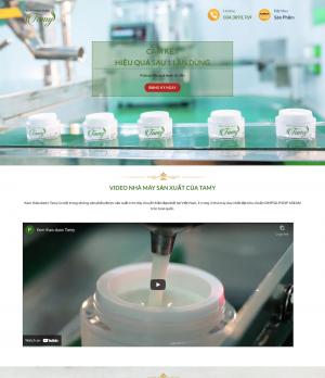 Website landing page kem thảo dược