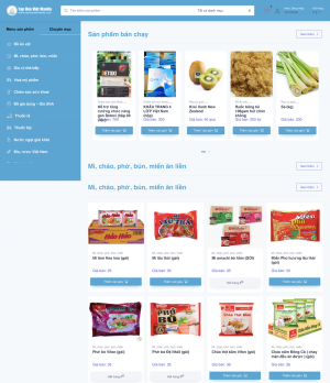 Mẫu website cửa hàng tạp hoá