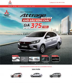 Website bán ô tô mitsubishi