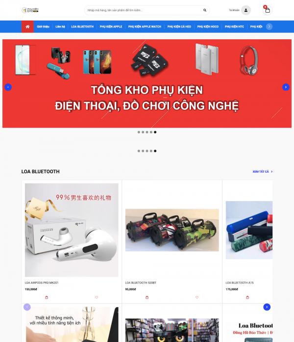Thiết kế website bán phụ kiện