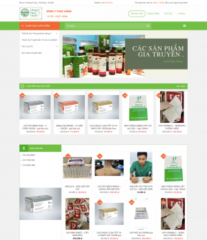 Thiết kế website bán thuốc đông y